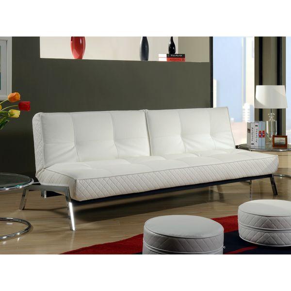 Cool Abbyson Living Venice White Convertible Euro Sofa Lounger Inspirational - Beautiful white sofa sleeper Ideas