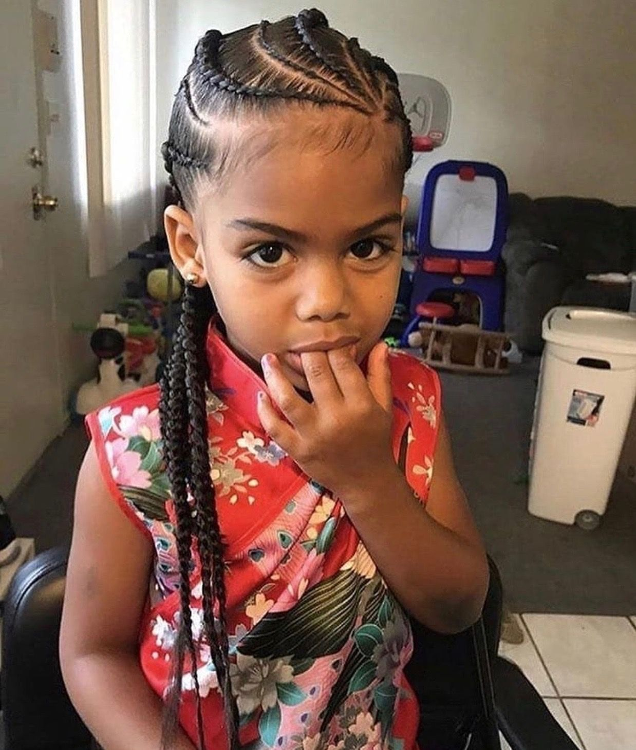 Lovely Cornrow Hairstyles for Kids