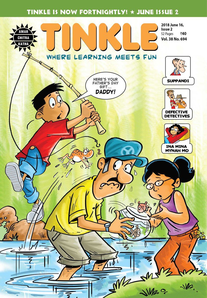 Tinkle magazine June 2018 Issue 2 comics art india