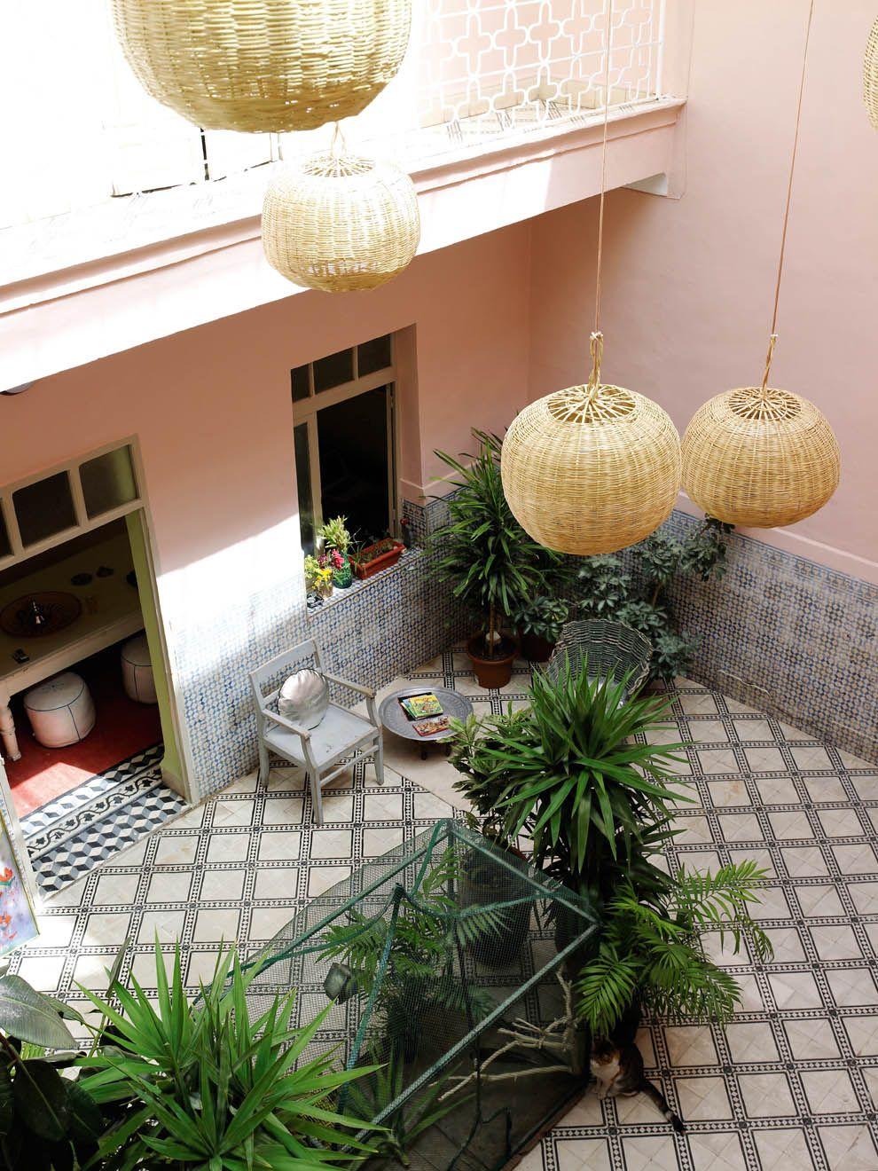 Marrakech le riad zid zid kids cour intérieuredehorsterrassesintérieur maisontuilesserrebureauxambiancepaysages
