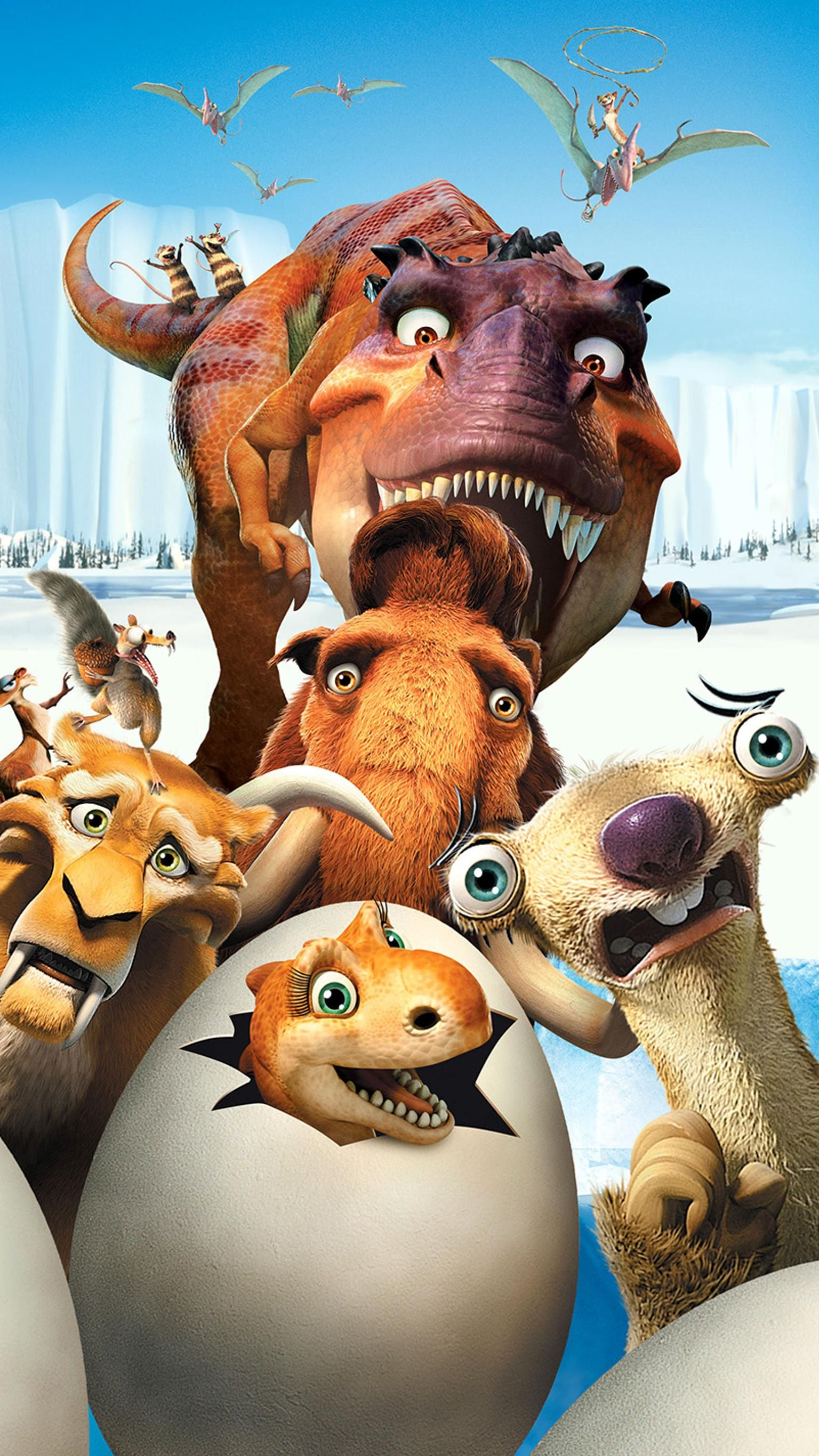 Ice Age Dawn Of The Dinosaurs 2009 Phone Wallpaper Moviemania Cute Disney Wallpaper Movie Wallpapers Cute Disney Drawings