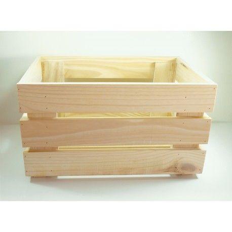 Caja de fruta de madera natural for Cajas de madera ikea