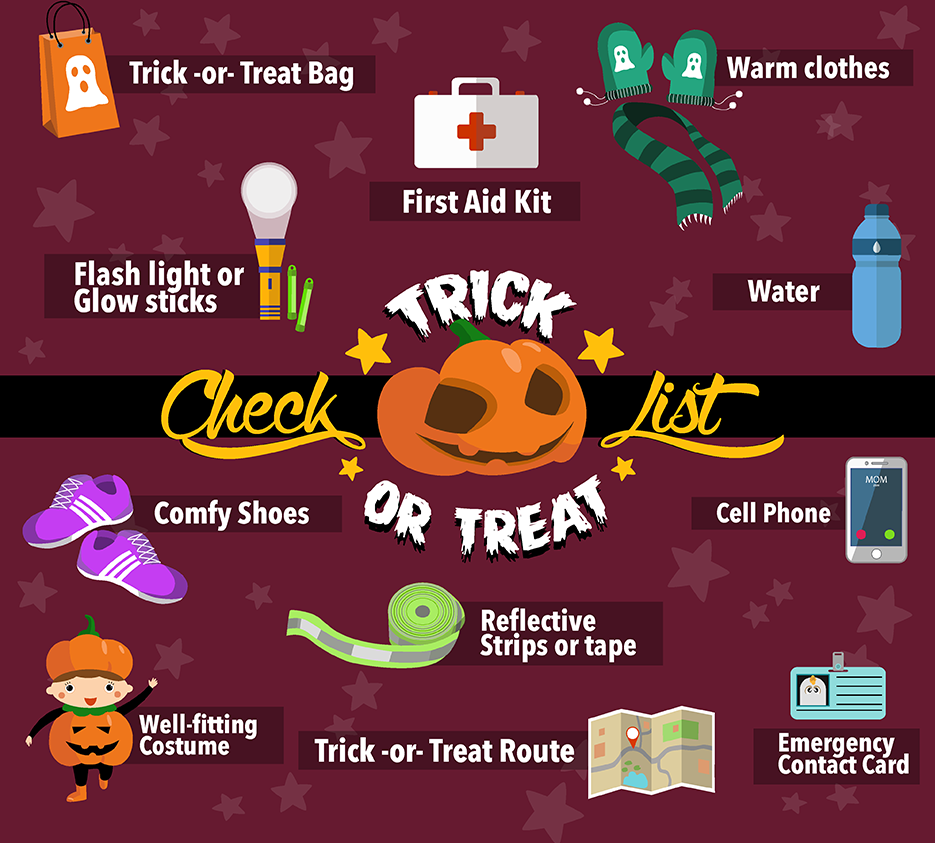 TrickorTreat Checklist Infographics PHPR Contact
