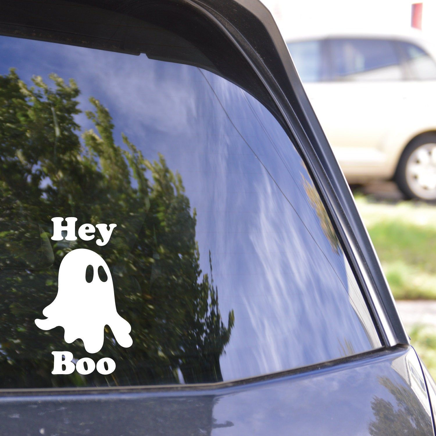 Hey Boo Decal Ghost Decal Ghost Sticker Haunted Sticker Ghost Decals Ghost Stickers Halloween Deca Halloween Decals Nature Decal Halloween Stickers [ 1500 x 1500 Pixel ]