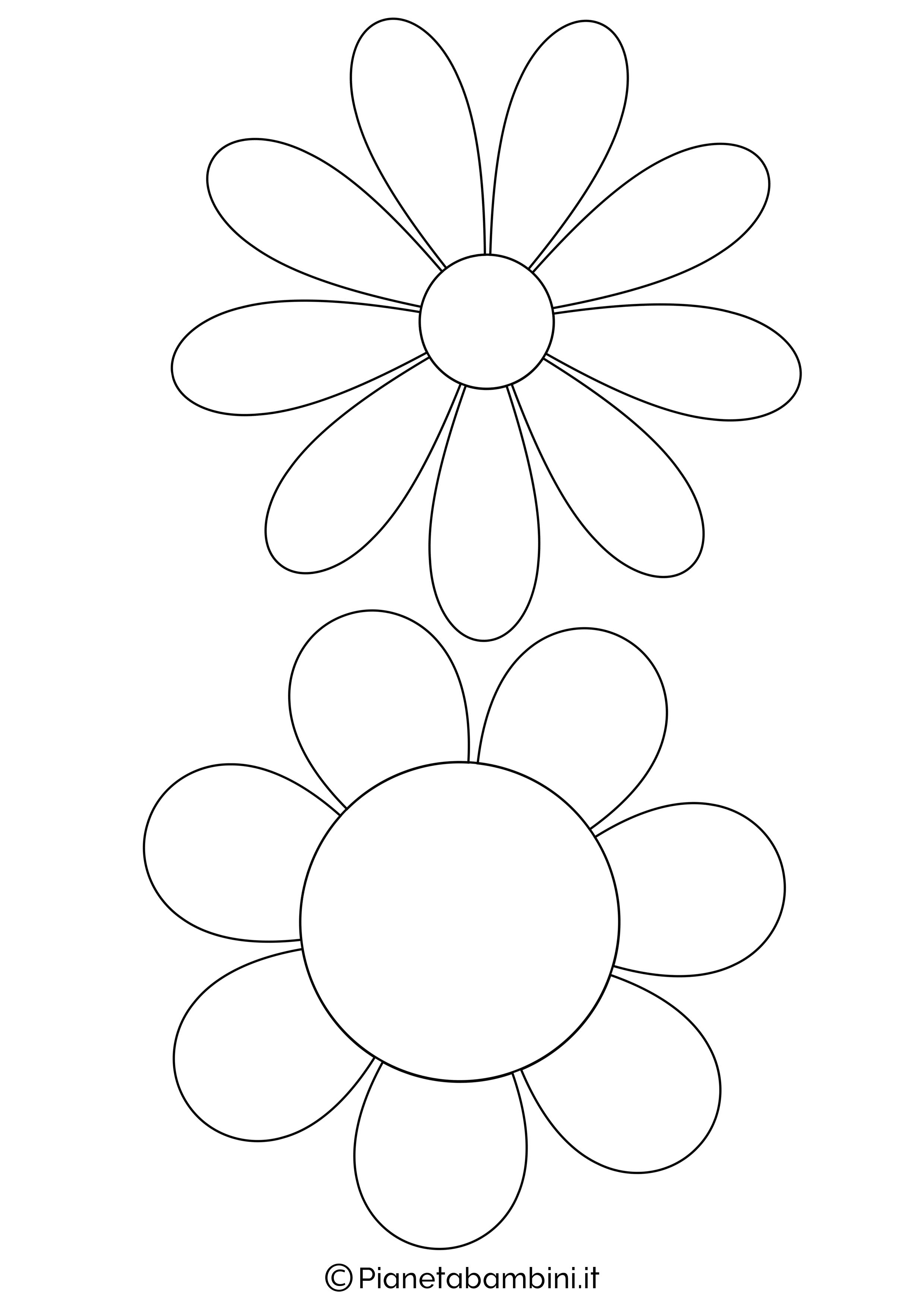 81 Sagome Di Fiori Da Colorare E Ritagliare Per Bambini Fiori Da Stampare Illustrazioni Floreali Disegno Fiori