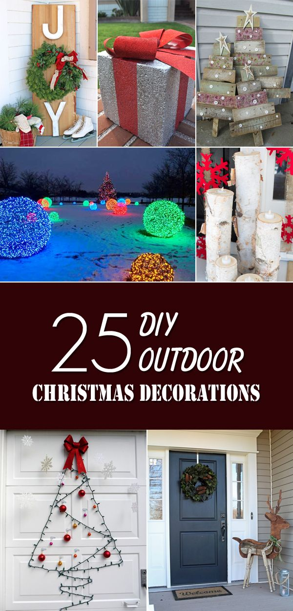 25 Amazing Diy Outdoor Christmas Decorations On A Budget Decorating With Christmas Lights Christmas Decorations Outside Christmas Decorations