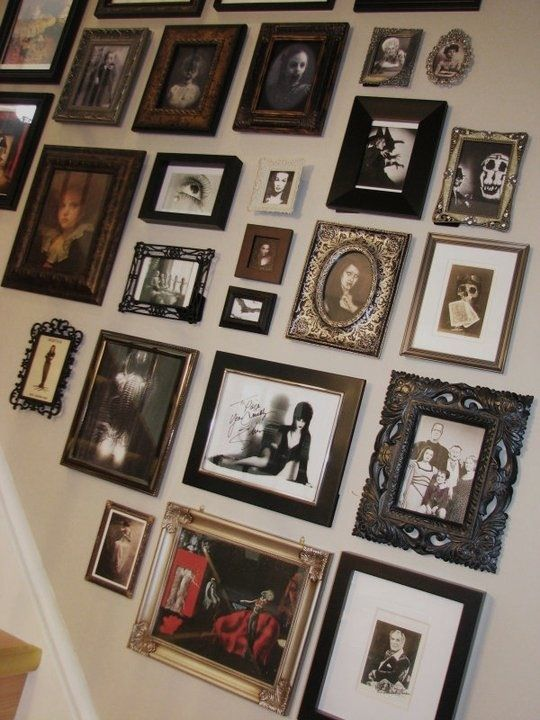 Picture frame cluster. All different styles | Frame cluster | Pinterest