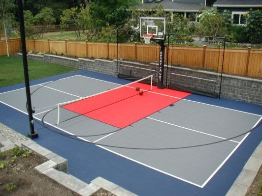 Sport Court Ideas Home And Garden Design Ideas Basketball Court Backyard Backyard Court Home Basketball Court