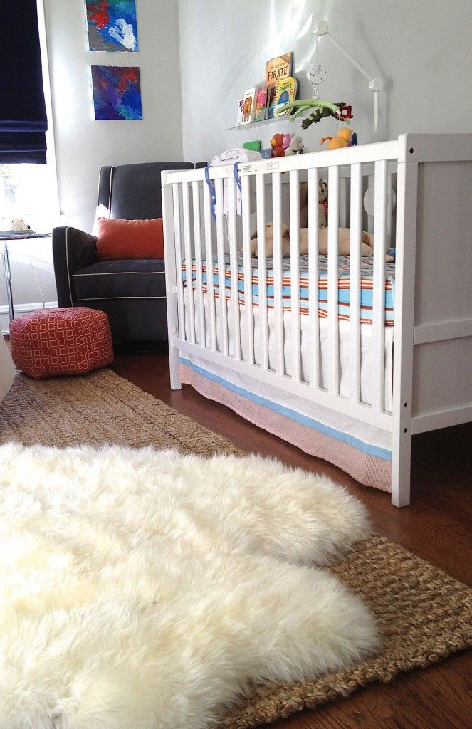 Baby Girl Rug For Bedroom: Sheepskin Rug Over Another Rug... In Case The Bedroom