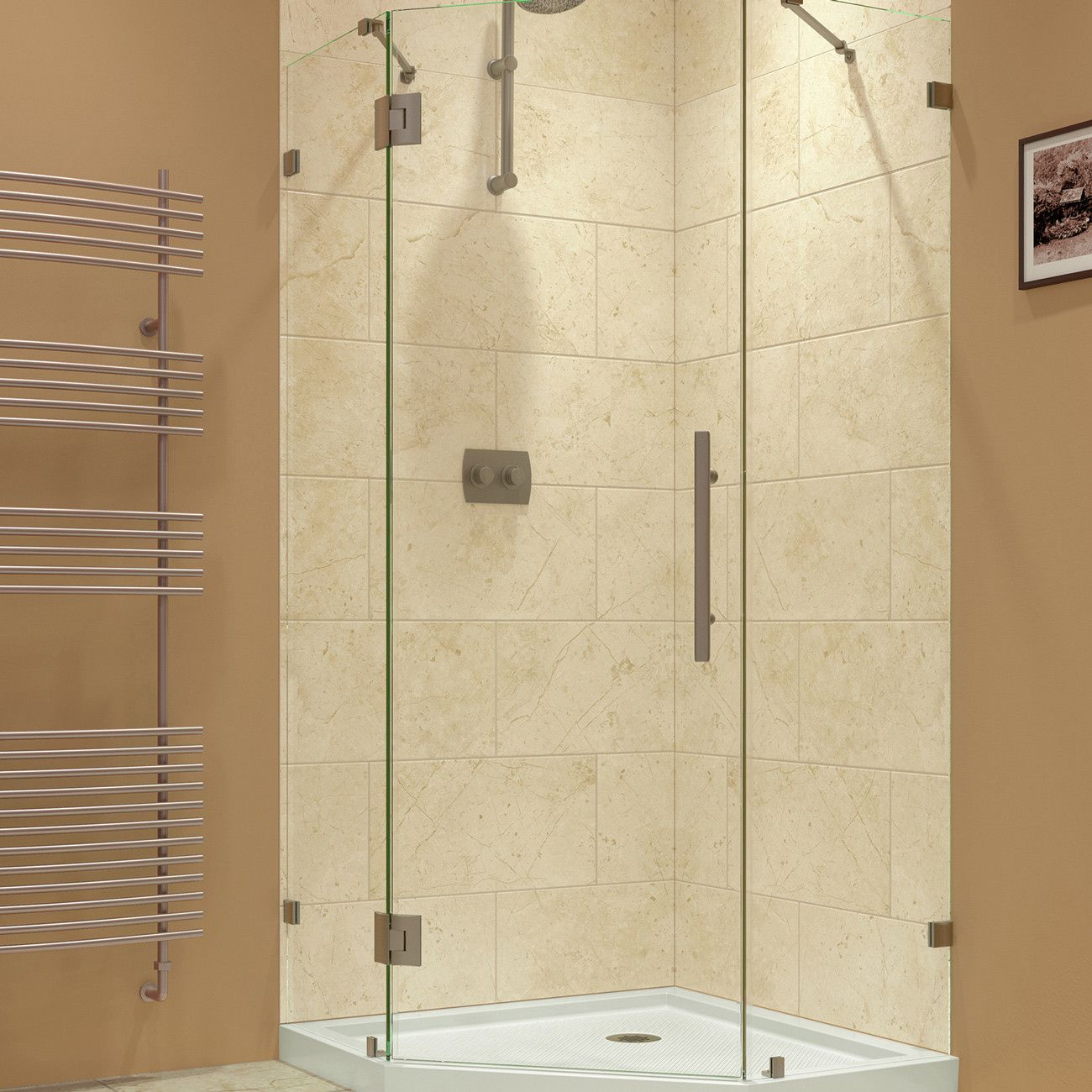 Beautiful Basement Shower Stalls