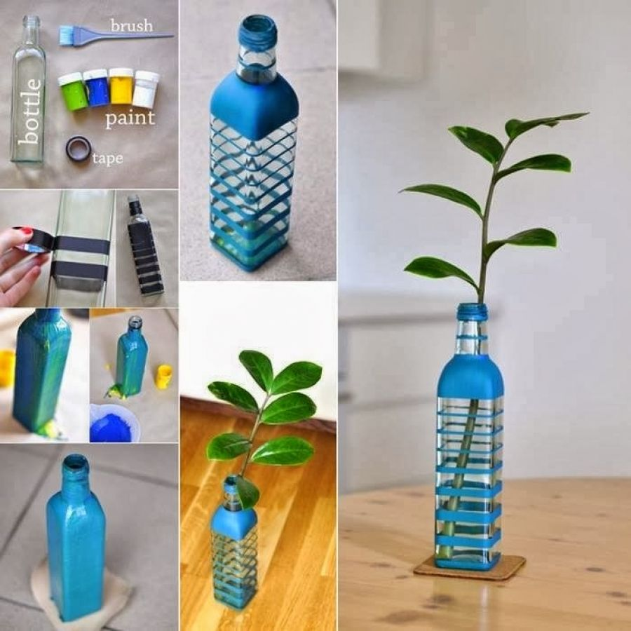 diy home decoration with flowers in the bottle my desired home craft diy home decoration