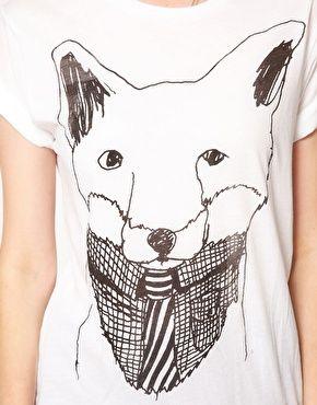 Simeon Farrar Exclusive to ASOS Fox with Shirt and Tie T-Shirt
