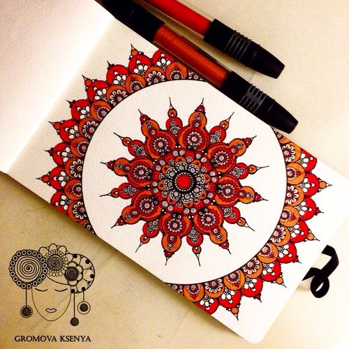mandala art and drawing image