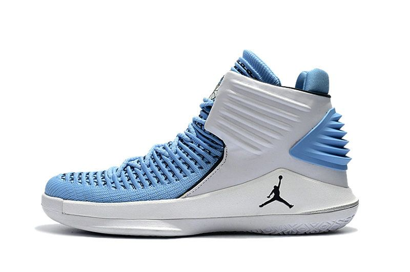 af747370ec4d36 2018 Purchase Air Jordan 32 High UNC Tar Heels PE White Carolina Blue Size  11.5