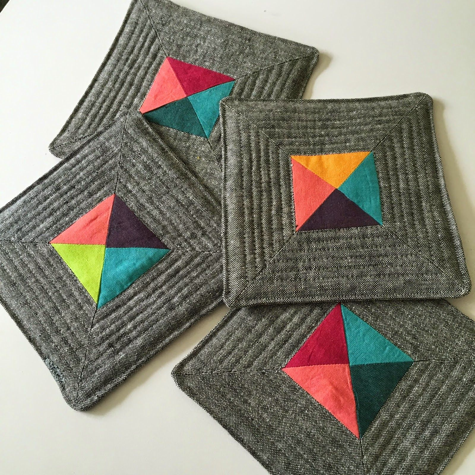 Quilted Coasters Quilts Quilting Tutorials
