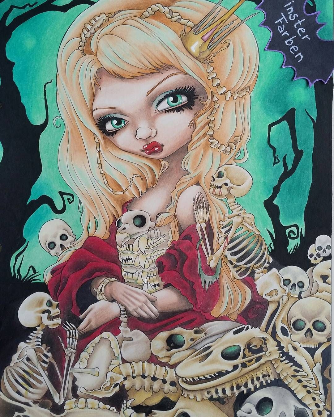 A creepy pale princess from Jasmine Becket Griffiths coloring book #jasminebecketgriffith . I ...