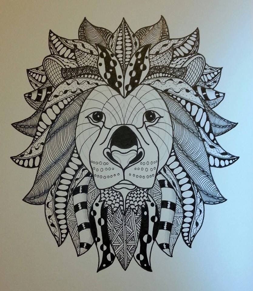Zentangle Lion Lion Head Outline Template By Ben Kwok Animal Tattoo Lion Head Humanoid Sketch Search images from huge database here presented 33+ lion outline drawing images for free to download, print or share. zentangle lion lion head outline