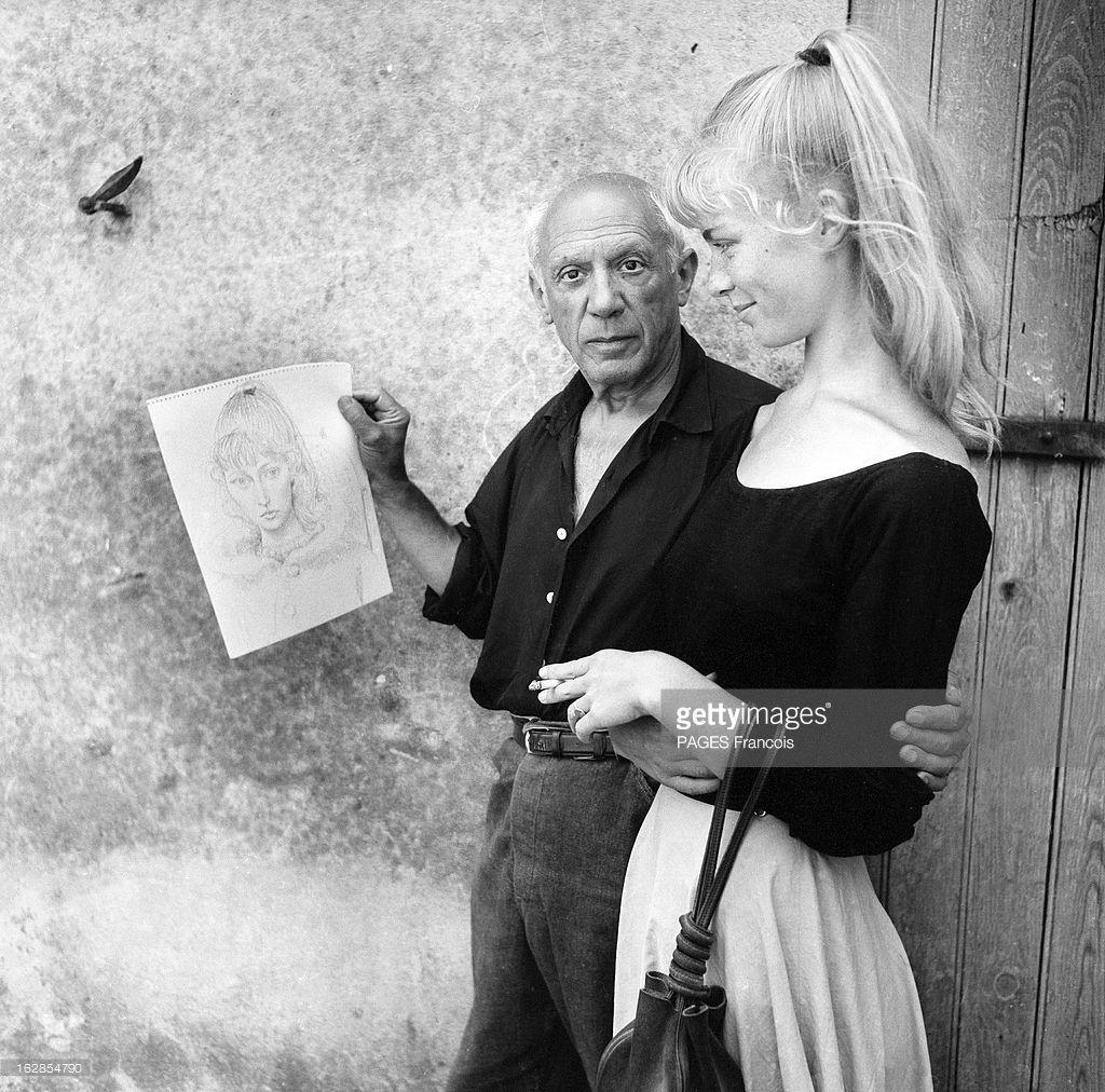 Pablo Picasso And His Model Sylvette David Later Lydia Corbett