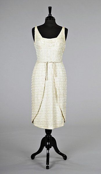 A fine Jean Dessès beaded and sequined cocktail dress, early 1960s