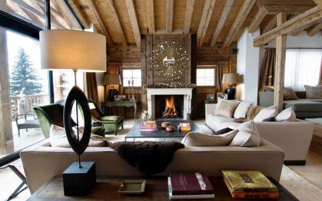 Klassischer kaminofen designer einrichtung chalet for Wohnzimmereinrichtung klassisch