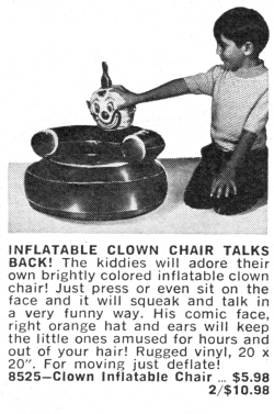Bert the Clown Chair had a bitter sense of humor that he liked expressing in the style of Lenny Bruce. Sadly, little Stevie wasn't really in his demographic.