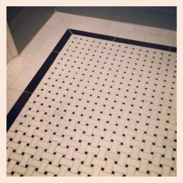 Love The Marble Basketweave Floor Tile Bathroom Simple