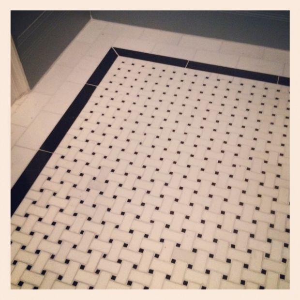 love the marble basketweave floor