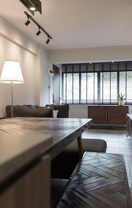 Modern Hdb Decor: 3 Room HDB Singapore Makeover Modern Design