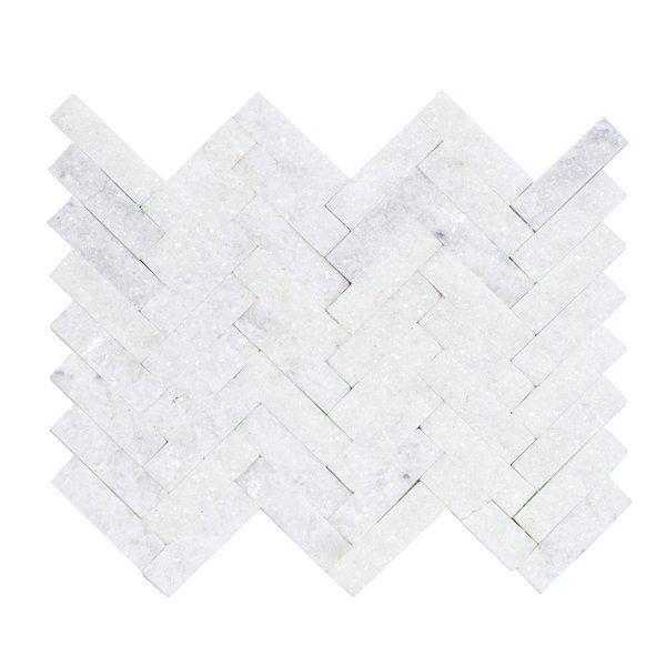 Mosaico Chevron Branco 28x28cm Forte Dei Marmi Leroy Merlin Merlin Decoracao Representacao Grafica
