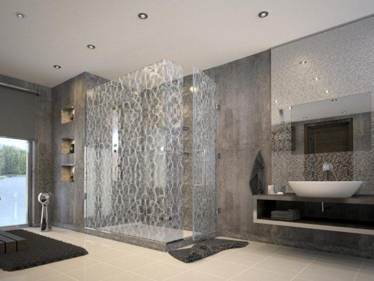Modern Black And Gray Bathroom Design