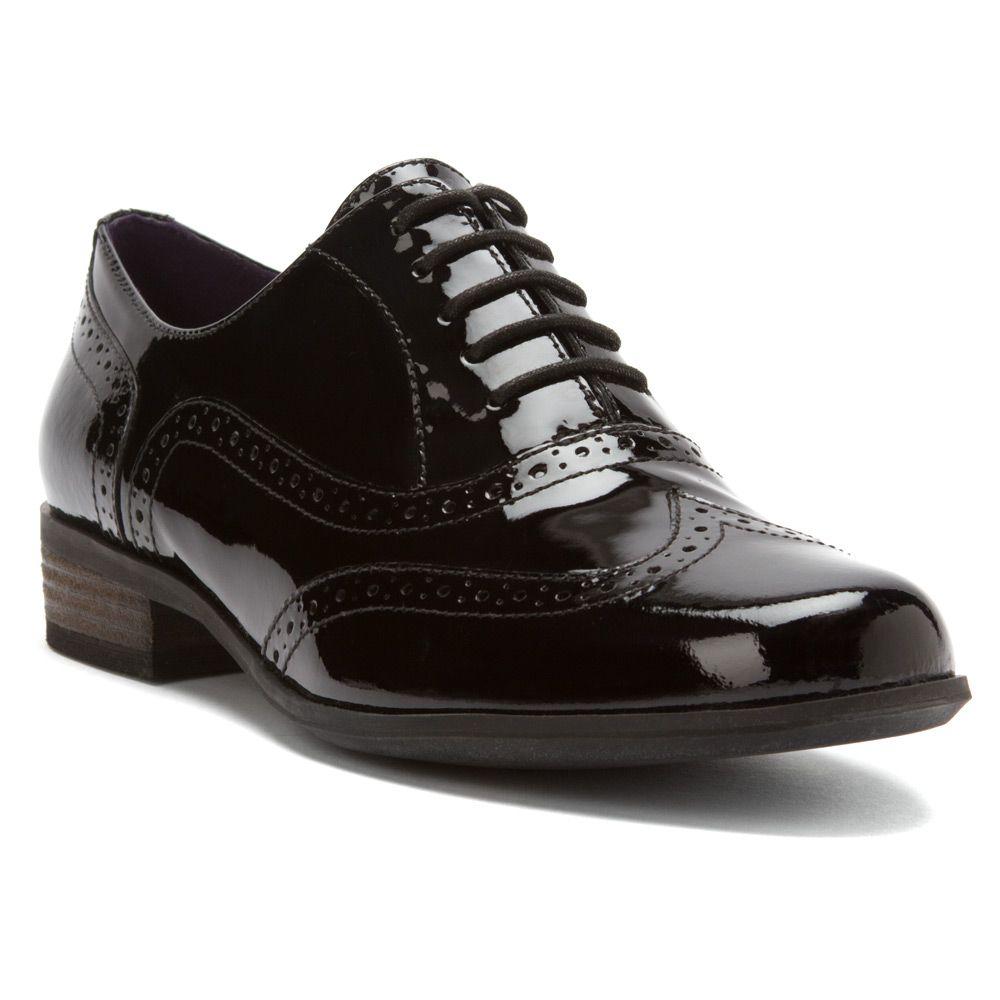 Black · Women\'s Black Patent Leather Clarks Hamble Oak Shoes