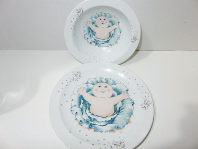 Cabbage Patch Kids 1984 Royal Worcester Fine Porcelain Made In England Bowl Plate Cabbage Patch Kids Plates And Bowls Fine Porcelain