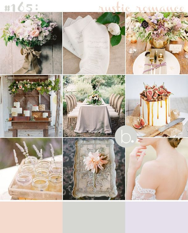 Muted Blush Lilac And Sage Rustic Romantic Wedding Inspiration