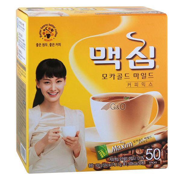 Maxim Mocha Gold Mild Korean Instant Mixed Coffee Stick Rich Flavor 50 Sticks #Maxim