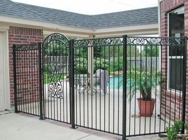 Marvelous Iron Fence Hallway Doors Houston And Iron Fence Repair