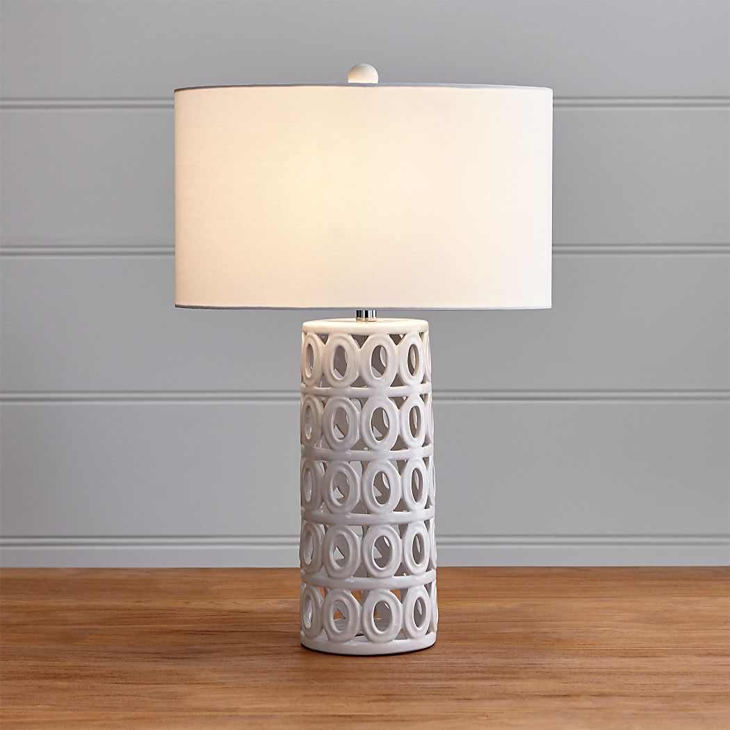 Cote White Ceramic Table Lamp + Reviews Crate and Barrel