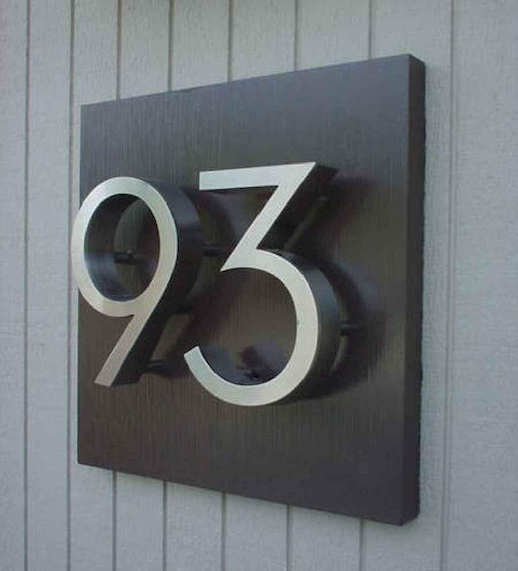 Best 90 Number Sign Home Design Ideas On A Budget Nomor Rumah Dekor Desain
