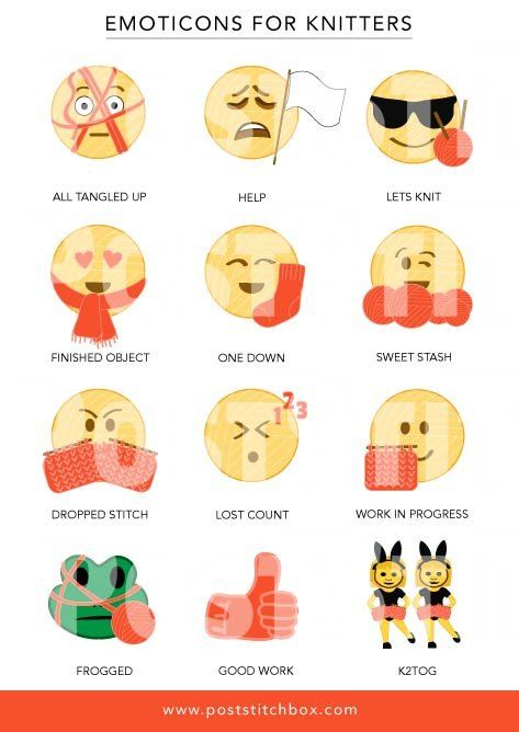 Emoticons For Knitters Knitting Subscription Knitters Emoticon