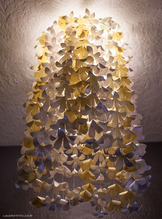 Diy Paper Flower Chandelier Paper Flower Lights Paper Flowers Flower Chandelier