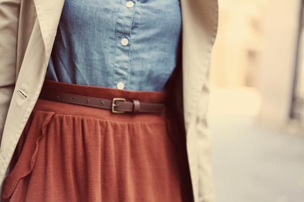 JennifHsieh #chambray #trench #scallops #fashion #ootd