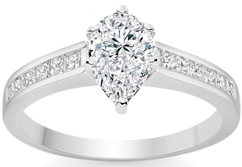 Pear Cut Diamond Engagement Ring Vashi