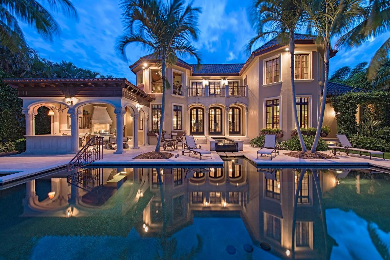 Tour an old world style waterfront home in naples fla hgtv house and mansion - Big mansions with pools on the beach ...
