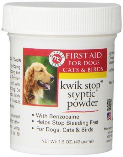 Kwik Stop Styptic Powder Helps Stop Nail Bleeding Fast For Dogs Cats Birds 15 Oz Want To Know More Click Pet Supplies Plus Food Animals Online Pet Supplies