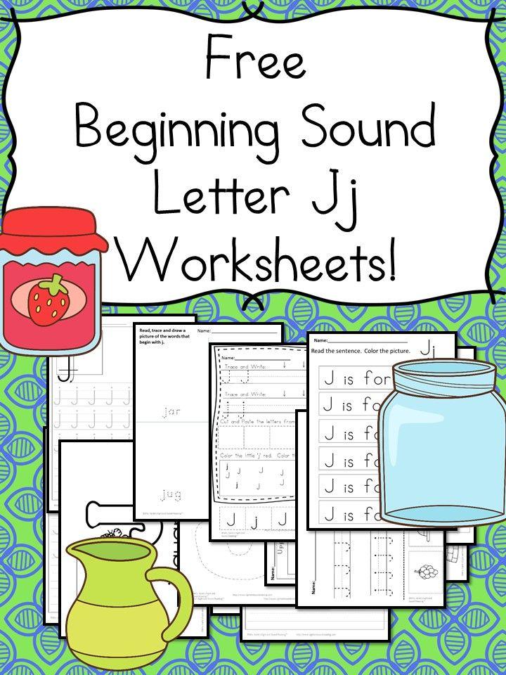 18 free beginning sound j worksheets easy download mrs karle 39 s sight and sound reading. Black Bedroom Furniture Sets. Home Design Ideas