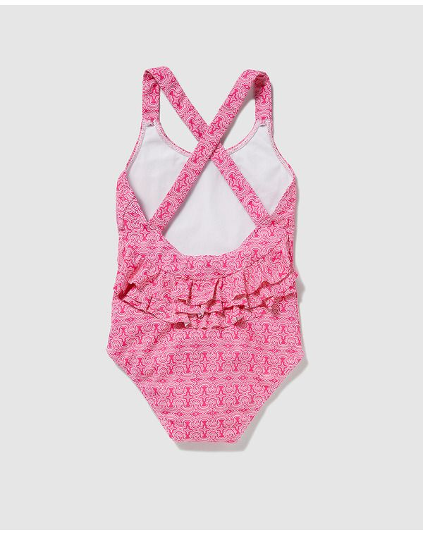 Image for B con B girls' printed swimsuit with ruffles from El Corte Inglés UK