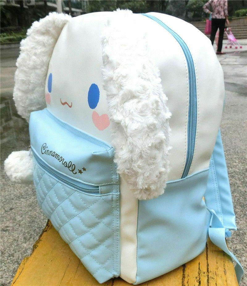 Lolita Cute Cinnamoroll PU Shoulder Bag Travel Backpack Plush Ears School Bag
