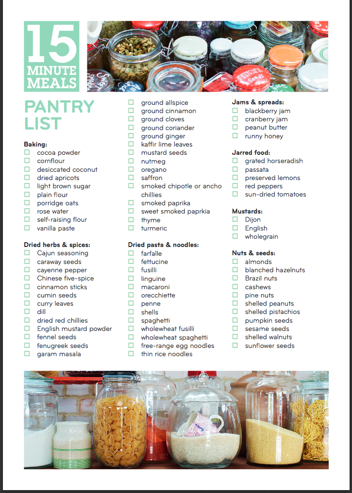 Pantry list from jamie olivers 15 minute meals book httpwww pantry list from jamie olivers 15 minute meals book httpjamieoliver forumfinder Choice Image