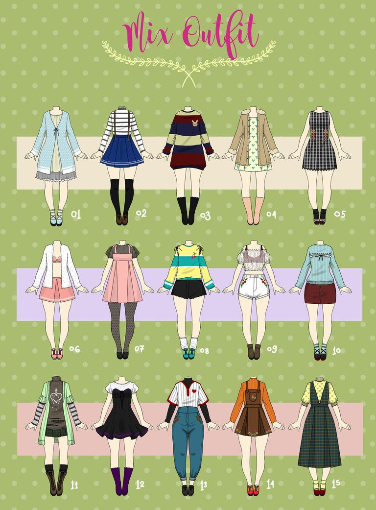 Closed Casual Outfit Adopts 04 By Https Www Deviantart Com Rosariy On Deviantart Fashion Design Drawings Art Clothes Fashion Design Sketches