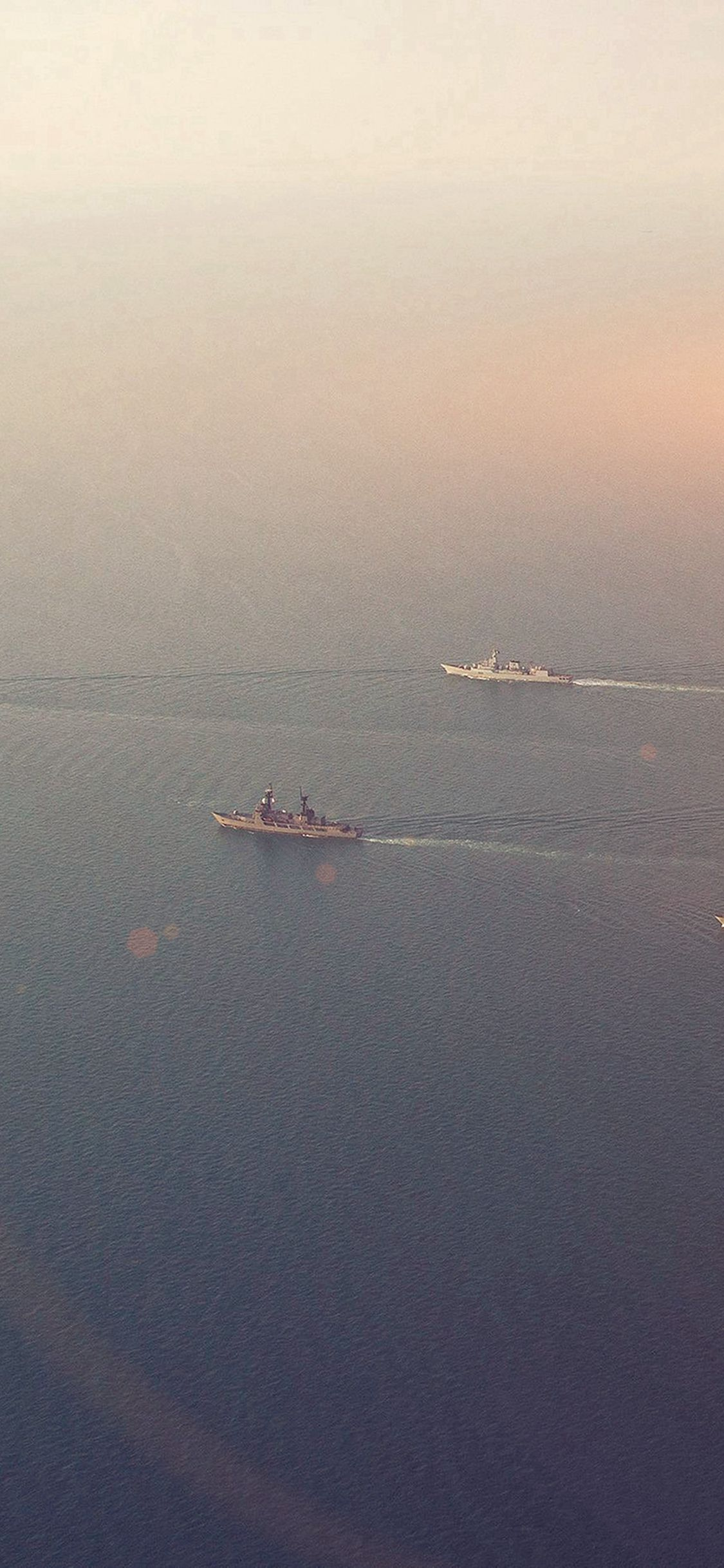 Sea Battleship Ocean Flare Nature iPhone X Wallpapers