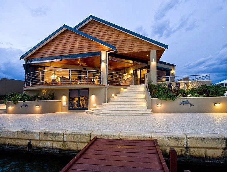 Fachadas de casas con terraza modernas 2 plantas Pinterest